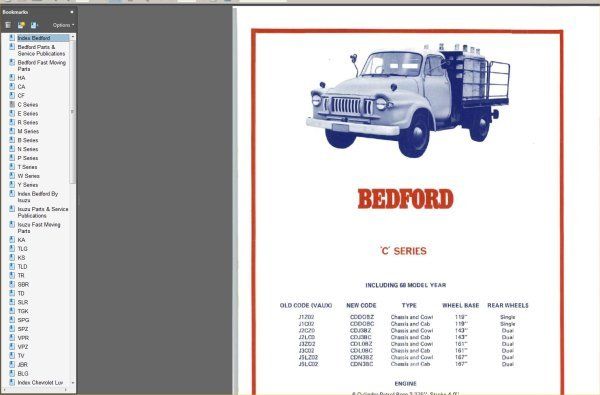 Product picture BEDFORD ISUZU ID GUIDE 1964-1982